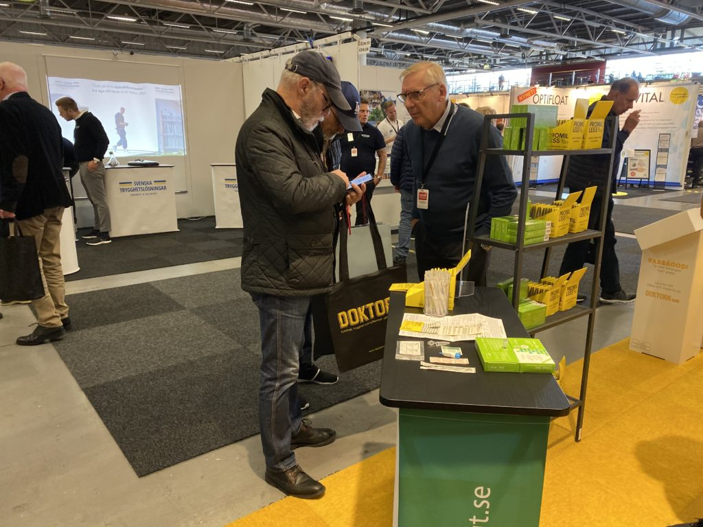 Seniormässan 2019 Stockholmsmässan - FindOut Diagnostics kommande produkt Promilless rönte stor nyfikenhet
